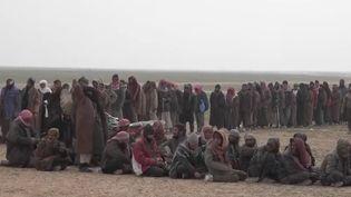 Des jihadistes capturés par les Kurdes en Syrie (CAPTURE ECRAN FRANCE 2)