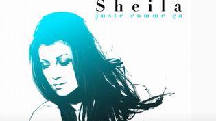 """La pochette de l'album """"Juste comme ça"""", sorti en 2006, compilation de chansons de Sheila parmi lesquelles """"Blancs, Jaunes, Rouges, Noirs"""" (WARNER)"""