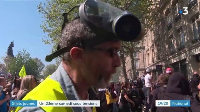 """""""Gilets jaunes"""" : les violences de retour dans la capitale"""