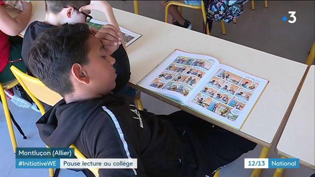 Allier : pause lecture pour les collégiens