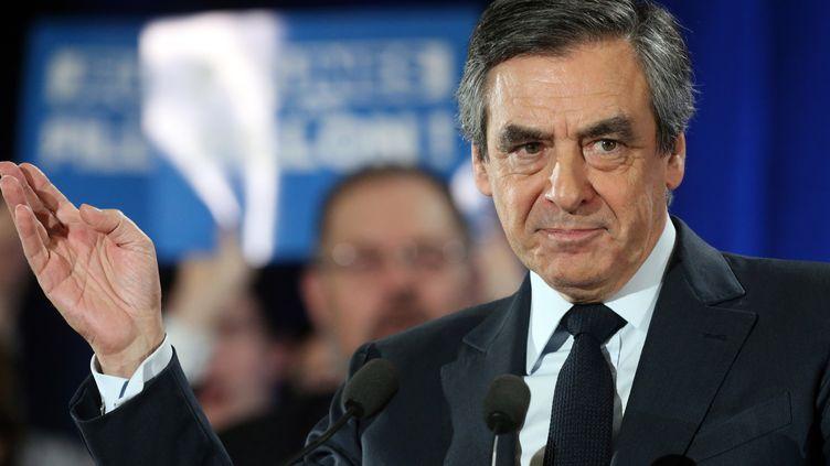 François Fillon, le 2 février 2017 à Charleville-Mézières (Ardennes). (FRANCOIS NASCIMBENI / AFP)