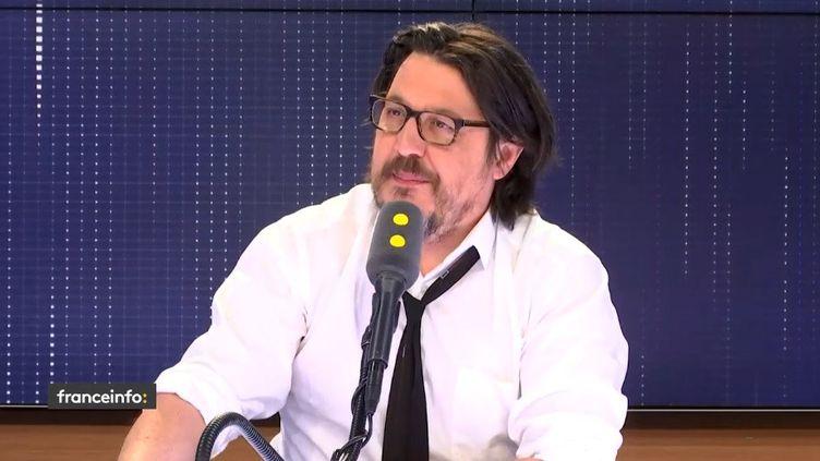 Le journaliste David Dufresne, à franceinfo le 27 mars 2019 (RADIO FRANCE)