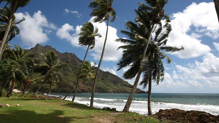 Le bord de mer sur l'île Hiva Oa sur l'archipel des Marquises. Photo d'illustration. (MAXPPP)