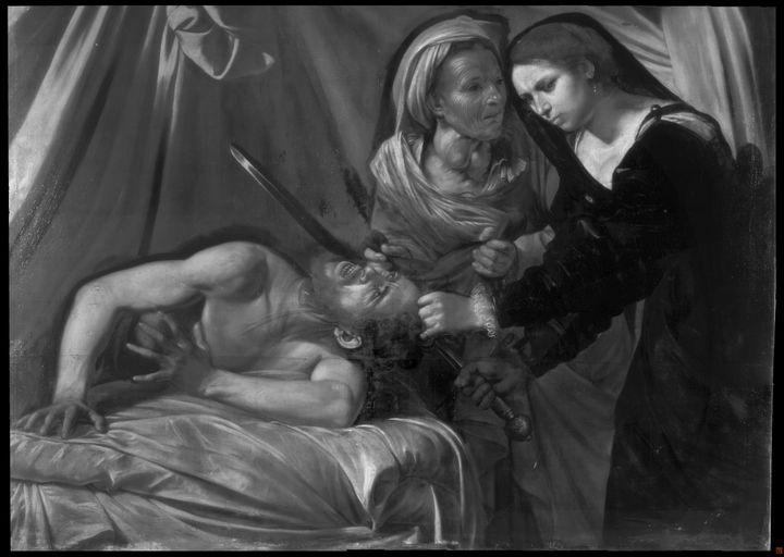 """Réflectographie du tableau """"Judith et Holopherne"""" redécouvert en 2014. (Cabinet Turquin)"""