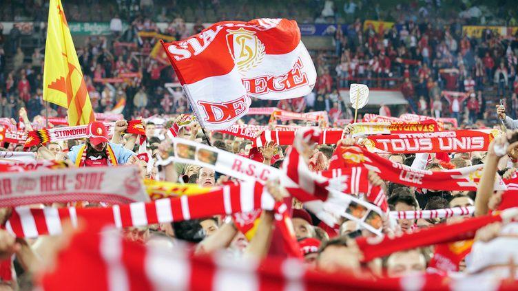 Les supporters du Standard de Liège fêtent le titre de champion de Belgique, le 20 avril 2008. (BELGA / AFP)