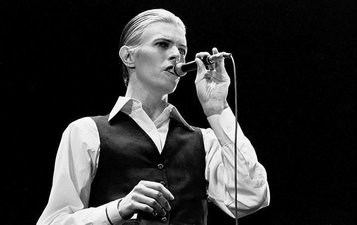 David Bowie sur scène à Rotterdam le 13 mai 1976 à Rotterdam.  (Gijsbert Hanekroot / Getty Images)