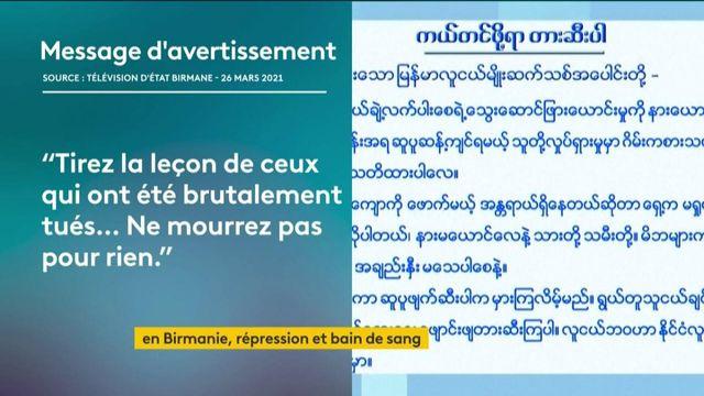 Birmanie : répression dans une mare de sang