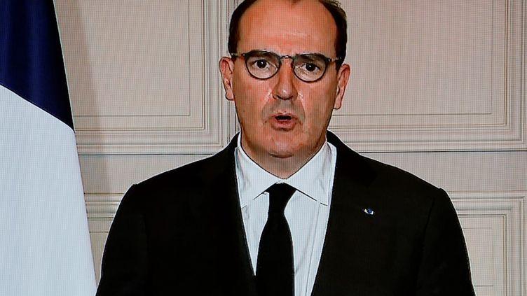 Le Premier ministre, Jean Castex, à l'Elysée, le 29 janvier 2021. (LUDOVIC MARIN / AFP)