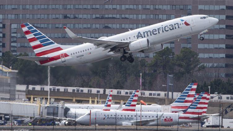 Un Boeing 737 à Arlington, en Virginie, le 11 mars 2019. (ANDREW CABALLERO-REYNOLDS / AFP)