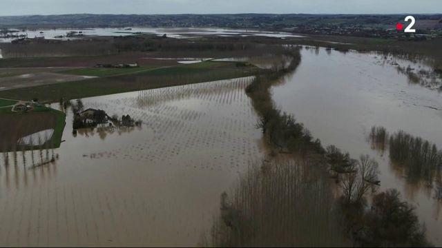 Crue : plusieurs villages du Sud-Ouest sous l'eau