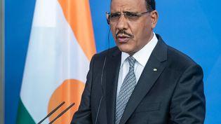 Le président du Niger,Mohamed Bazoum, le 8 juillet 2021 à Berlin. (BERND VON JUTRCZENKA / POOL)