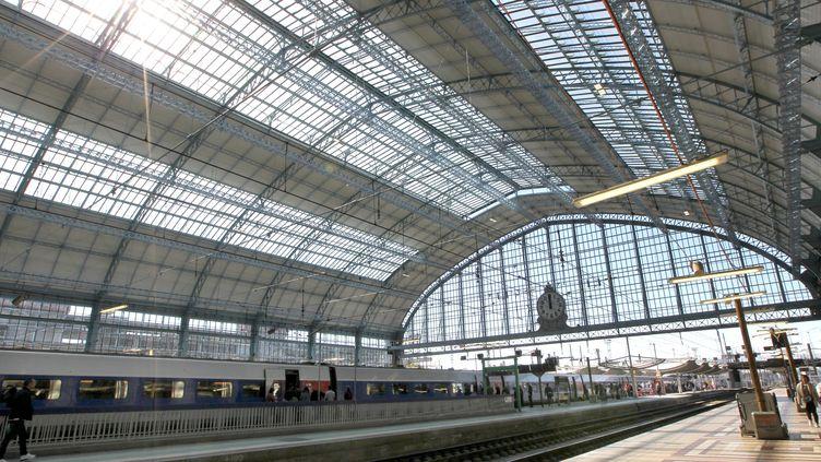 La verrière de la gare Saint-Jean à Bordeaux. (LARTIGUE STEPHANE / MAXPPP)