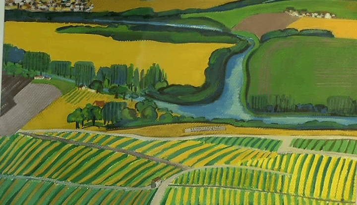 """""""Pays de champagne"""" par Anne-Marie Laroque  (France 3 / Culturebox / capture d'écran)"""