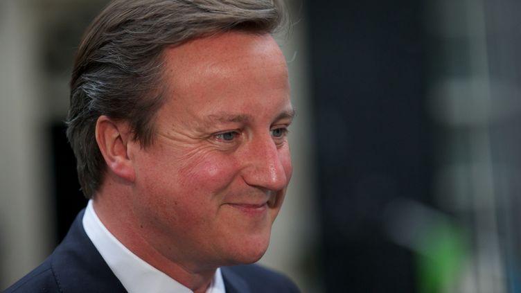 Le Premier ministre britannique David Cameron, le 7 août 2012 à Londres (Grande-Bretagne). (ANDREW COWIE / AFP)