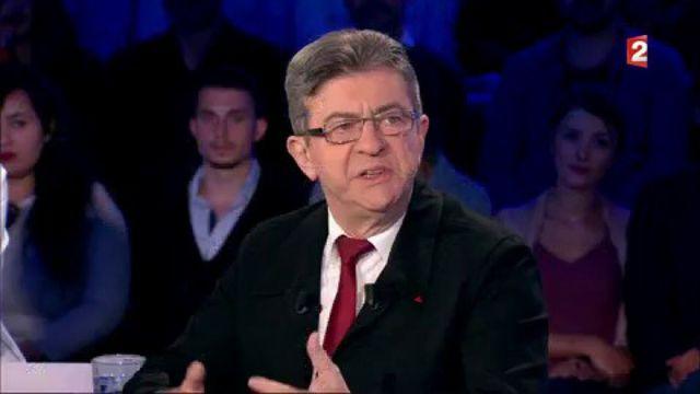 """""""On n'est pas couché"""" : Mélenchon juge """"répugnants"""" les socialistes qui abandonnent Hamon"""