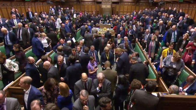 Les députés britanniques se prononcent pour ou contre l'accord sur le Brexit, le 15 janvier 2019, à Londres (Royaume-Uni). (HO / PRU)