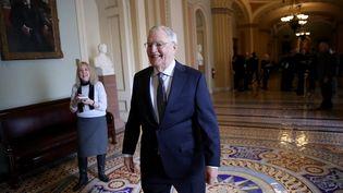 L'ancien vice-président américain,Walter Mondale, au Sénat, le 3 janvier 2018. (WIN MCNAMEE / GETTY IMAGES NORTH AMERICA / AFP)