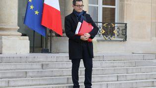 Gérald Darmanin,ministre des comptes etde l'Action et des Comptes publics, le 21 février à l'Élysée. (LUDOVIC MARIN / AFP)