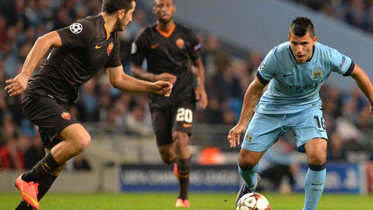 Sergio Aguero n'a pas pu faire totalement la différence face à la Roma