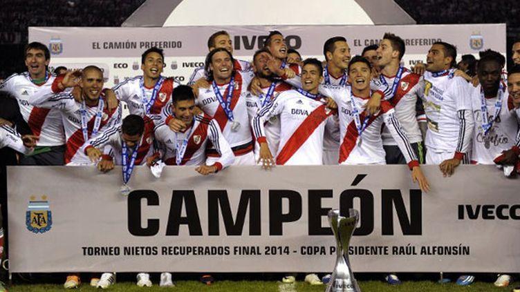 La joie des joueurs de River Plate, vainqueur du tournoi de clôture 2014