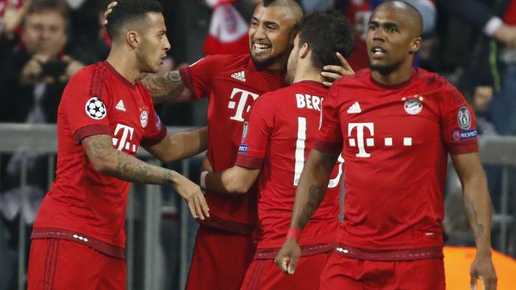 La joie des joueurs du Bayern Munich (ODD ANDERSEN / AFP)