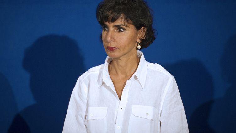 Rachida Dati au campus des Jeunes Populaires à Marseille (Bouches-du-Rhône), le 3 septembre 2011. (LIONEL BONAVENTURE / AFP)