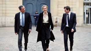 Nathalie Kosciusko-Morizet et BenoistApparu, le 23 février 2012, à Paris. (ERIC FEFERBERG / AFP)