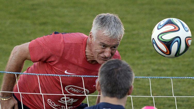 Deschamps participe à l'entraînement des Bleus (FRANCK FIFE / AFP)