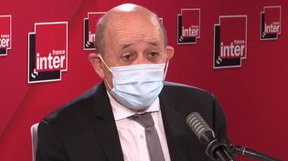 Jean-Yves Le Drian, sur France Inter, le 18 février 2021. (FRANCE INTER / RADIO FRANCE)
