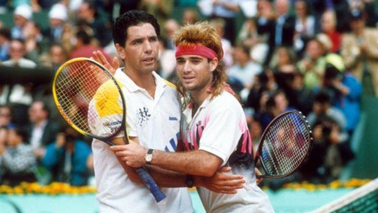 Andres Gomez, vainqueur d'Andre Agassi en finale de l'édition 1990