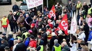 Manifestation des urgentistes de Lons-le-Saunier en janvier 2019. (PHOTO PHILIPPE TRIAS / MAXPPP)