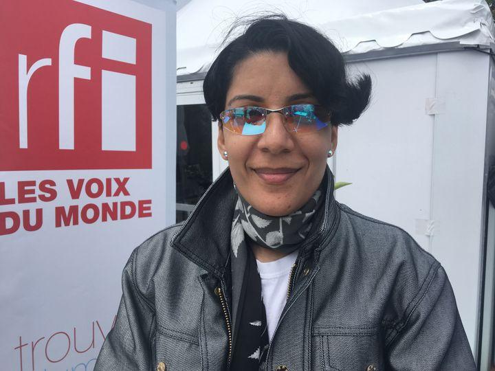 Fatima Al Qadiri au Festival de Cannes 2019. (Jacky Bornet / France Info Culture)