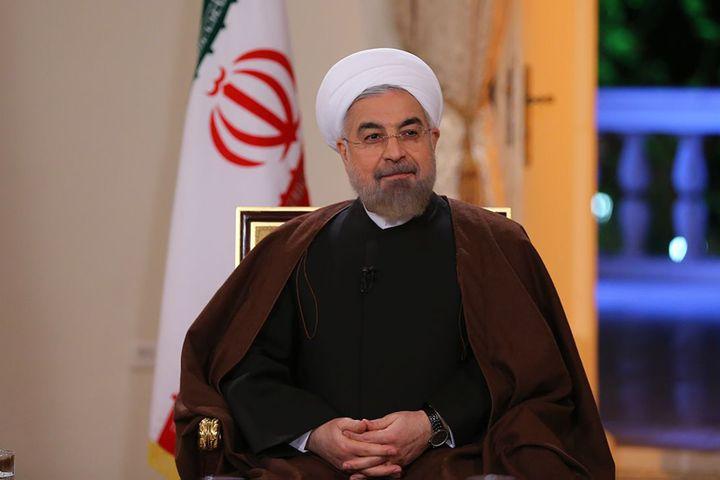 Le président iranien Hassan Rohani, le 13 octobre 2014 à Téhéran. (IRANIAN PRESIDENCY / AFP)