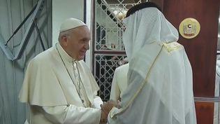 Le pape lors de sa visite. (France 2)