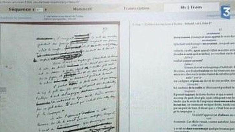 Madame Bovary en version manuscrite accessible à tous sur le web  (Culturebox)