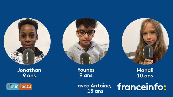 franceinfo junior, une émission en partenariat avec le magazine d'actualités pour enfants 1jour1actu et 1jour1actu.com. (FRANCEINFO / RADIO FRANCE)