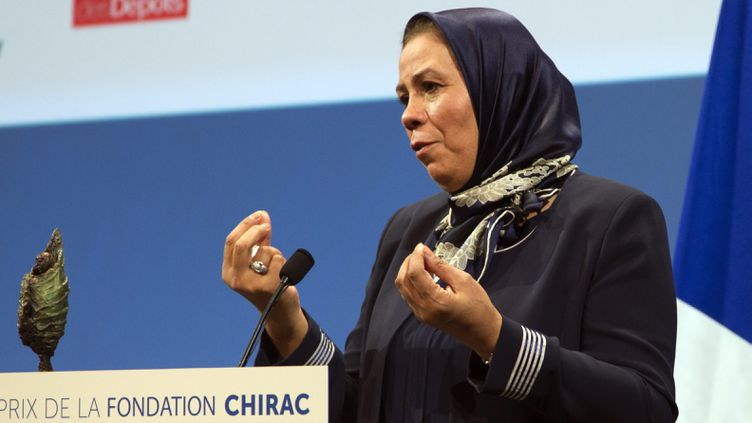 (Latifa Ibn Ziaten, primée ce jeudi par la Fondation Chirac  © MaxPPP)