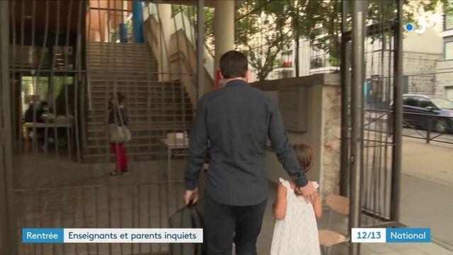Rentrée scolaire : les parents et les enseignants sont inquiets