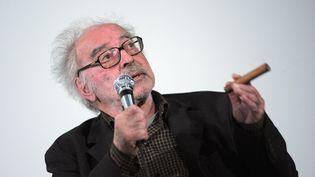 Le cinéaste Jean-Luc Godard, en juin 2010, lors d'un débat à Paris. (MIGUEL MEDINA / AFP)