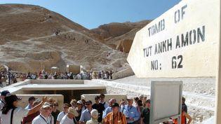 Entrée de la tombe de Toutankhamon, Vallée des Rois Louxor  (BERND WEISSBROD / DPA / DPA/AFP)