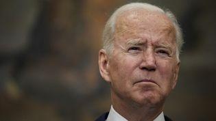 Le président des Etats-Unis, Joe Biden, le 24 août 2021 à Washington. (DREW ANGERER / AFP)