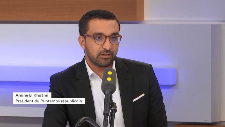 Amine El Khatmi, président du Printemps Républicain, invité de franceinfo le 6 novembre2019. (FRANCEINFO / RADIOFRANCE)