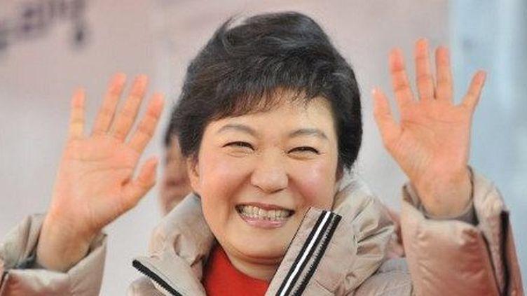 Park Geun-Hye, lors de la campagne électorale pour la présidentielle sud-coréenne, à Séoul, le 15 décembre 2012. (AFP/JONG YEON-JE)
