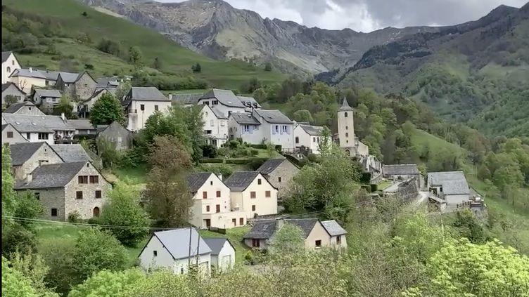Point de vue du village d'Aydius,dans la vallée d'Aspe (Pyréénes-Atlantiques). (CAPTURE ECRAN / DAILYMOTION FRANCEINFO)