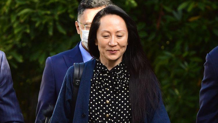 La directrice financière de Huawei, Meng Wanzhou, se rend à une audience au tribunal de Vancouver (Canada), le 24 septembre 2021. (DON MACKINNON / AFP)