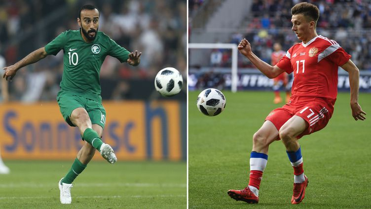 Mohammad al-Sahlawi (Arabie Saoudite) fera face à Alexander Golovin (Russie) jeudi pour le match d'ouverture. (ALEXANDER NEMENOV,LEON KUEGELER / AFP)