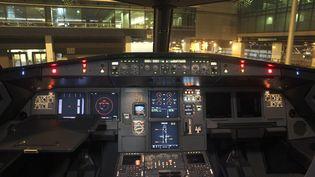 Vue générale du cockpit d'un Airbus A320, le 31 janvier 2015. (  REUTERS)
