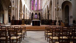 L'église de Saint-Germain-l'Auxerrois, à Paris, le 5 avril 2020. (ALEXIS SCIARD / MAXPPP)