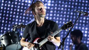 Thom Yorke de Radiohead sur scène à Newark le 31 mai 2012.  (Benjamin Lozovsky/BFA/Sipa)