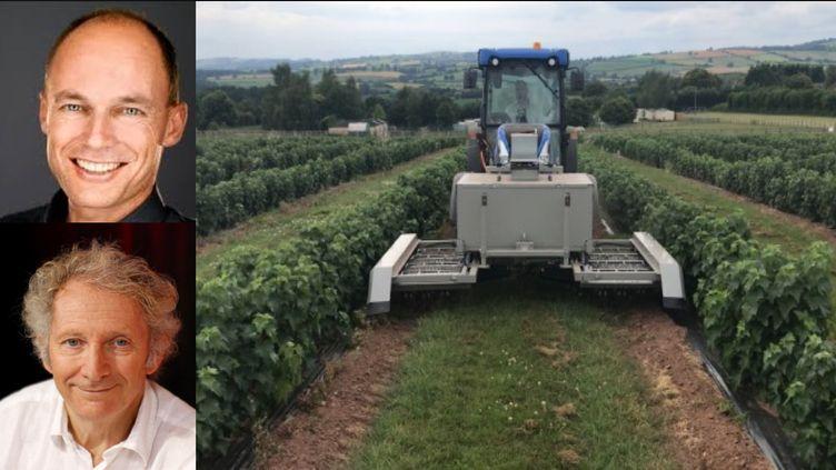 Bertrand Piccard et Gérard Feldzer présentent un désherbant sans herbicides (ROOTWAVE)